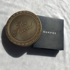 morphe finishing powder & too faced bronzer